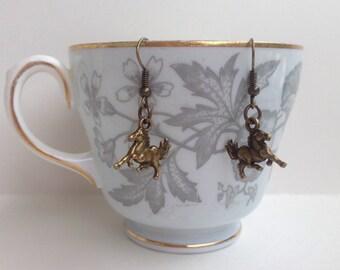 Horse Earrings - Prancing Horse Earrings - Equestrian Earrings