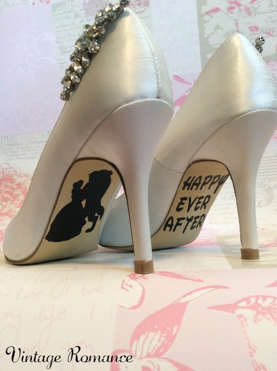 Disney Wedding Day Shoe Sole Vinyl Decals By Vintageromance2015