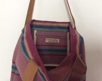 Leather handbag tote bag purse