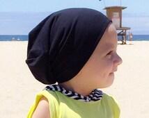 Baby slouchy beanie/ Toddler beanie/ Baby beanie/ Black hipster beanie/ boys slouchy beanie/ Slouchy beanie/ Hipster beanie/ infant knit hat