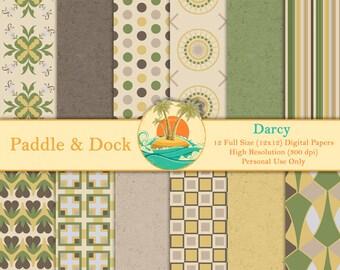 Digital Scrapbook Paper - Darcy