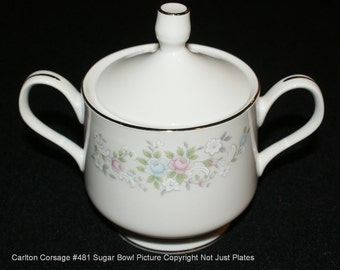 Carlton (Japan) Corsage Sugar Bowl with Lid