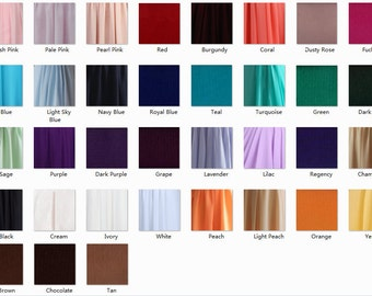 Chiffon Color Swatches