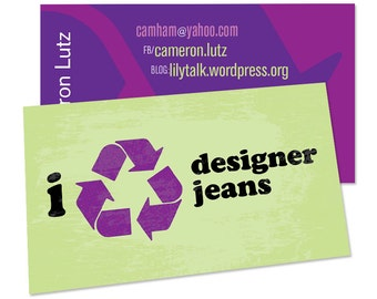 My Isms Recycle what? Social Card