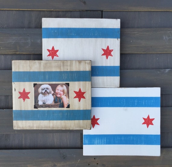 11x10 Chicago Flag Picture Frames Chicago Picture Frames
