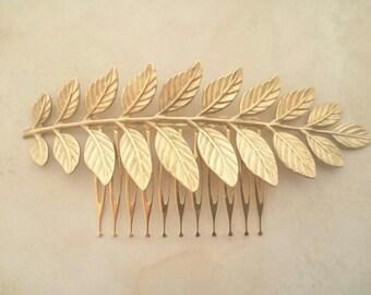 Laurel Leaf Hair Comb Gold Leaf Hair Comb Bridal Hair Comb Grecian Hair Wedding Hair Bridal Headpiece Hair Accessories