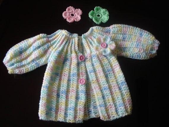Preemie crochet flower cardigan preemie sweater coming home