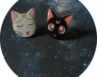 Sailor Moon Luna & Artemis Earrings