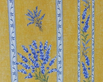 """French Provence lavender stripe fabric (63"""" wide) sold by the yard"""