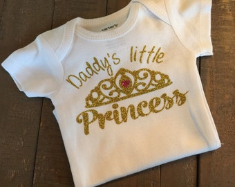 Gold or silver Daddy's little princess shirt