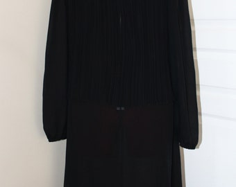 VTG 80s Pleated Black Dress