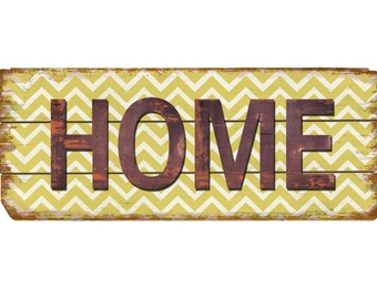 Rustic Decor Home Chevron Wood Sign