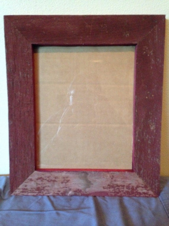 Reclaimed Red Barn Wood Picture Frame