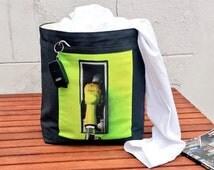 Retro PETROL PUMP LAUNDRY Bag Men Storage Basket Car Organizer Bag Gift For Him Bucket Bin Hamper Denim Reversible Quality Sturdy Handmade