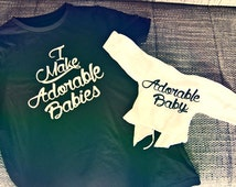 Christmas Gift Baby Clothes, Fresh Dad complete, Young Mom T-shirt, Soon to be dad and mom, Young Dad, Funny, Baby Shirt, Bodysuit, Ch