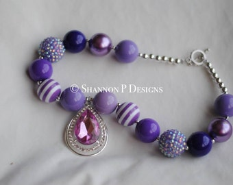 Sophia the First Amulet chunky bead necklace / Sophia the First Birthday / Sophia's amulet