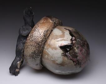 Ceramic Acorn Sculpture