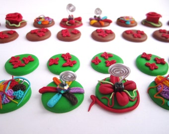 Failure in polymer inspiration floral and colorful game pieces