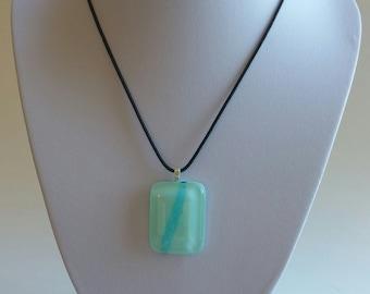 Mint Frost Glass Pendant
