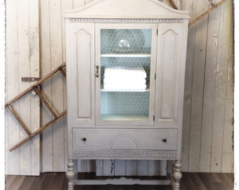 SOLD - Beautiful Chalk Painted Linen Cabinet