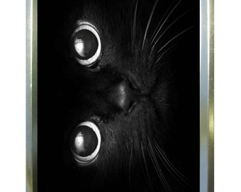 Cats eyes design 1oz gold tobacco tin,pill box,storage tin