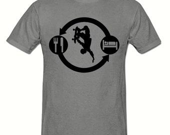 Eat Sleep SKATEBOARD t shirt,men's t shirt sizes small- 2xl, SKATEBOARD men's t shirt