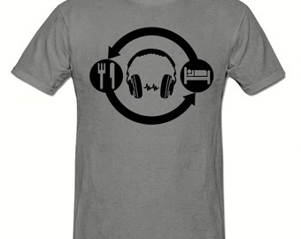 Eat Sleep DJ Repeat t shirt,men's t shirt sizes small- 2xl, Rave men's t shirt