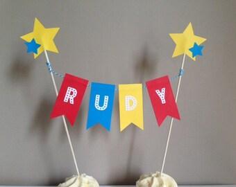 Personalised Birthday Bunting Cake Topper