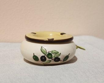 OLIVES Greek vintage ceramic ashtrey.
