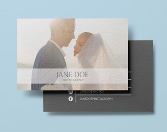 Photographer business card template, modern business card design custom photography instant download business card printable wedding studio