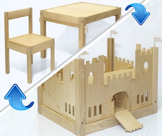 Items similar to wooden castle transformer children
