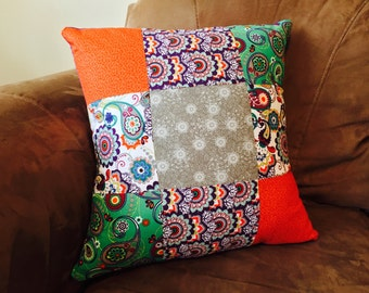 Paisley Patchwork Pillow