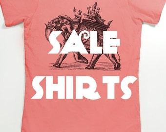 SALE - Women's T shirts - Discount screen printed shirts - Slothwing Tees