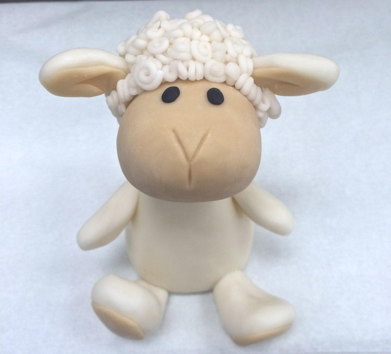 Cute Lamb Cake Topper