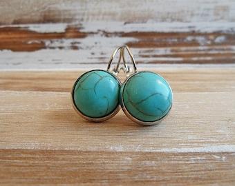 Gemstone Earrings Turquoise