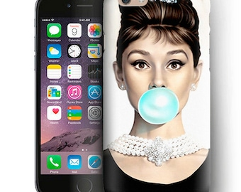 Audrey Hepburn iPhone Case For iPhone 6 Plus Case,iPhone 6 Case,iPhone 5/5s Case,iPhone 5C Case,iPhone 4/4s Case,iPod Touch 5 Case