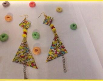 Jigsaw earrings