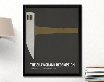 Shawshank Redemption movie poster, minimalist, cinema, Shawshank Redemption, Stephen King, contemporary art