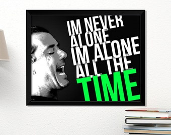 Bush poster, rock poster, Gavin Rossdale, music art, typography art