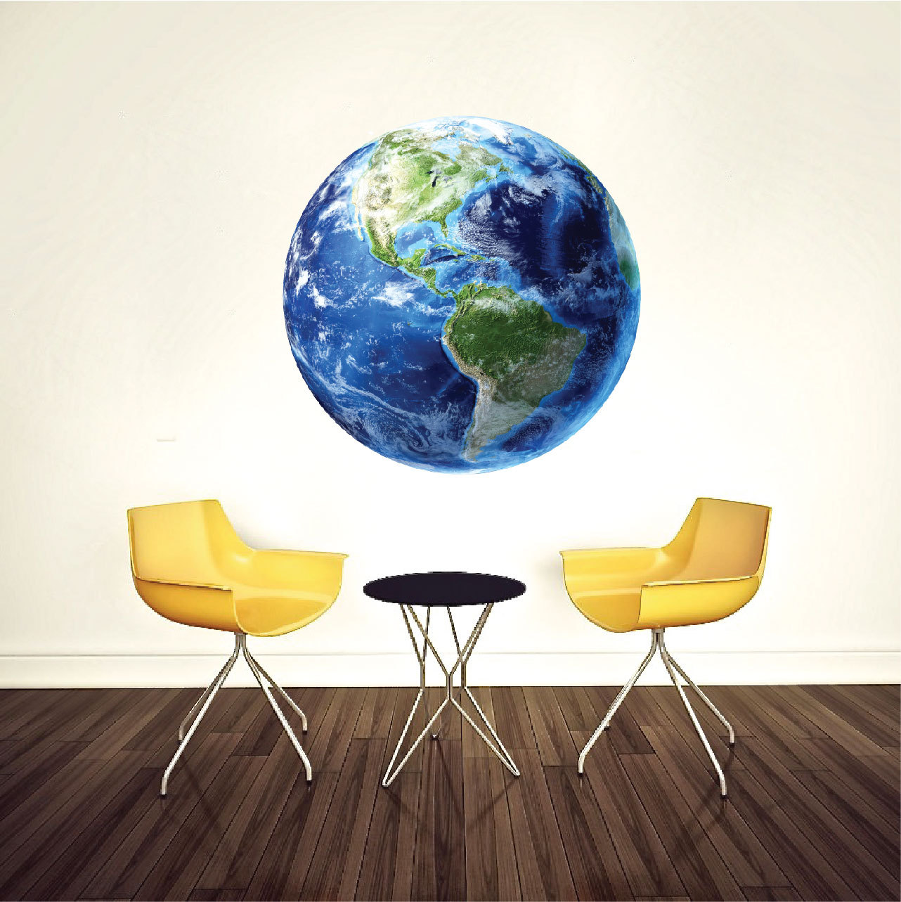 Earth wall decal planet wall mural bedroom planet decals for Earth rising wall mural