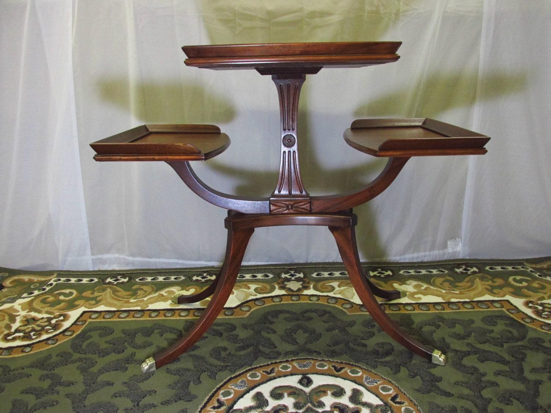 Merveilleux Restored Vintage Mersman Plantstand Or 3 Tier Table