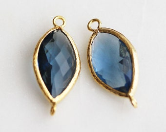 A2-152-G-MO] Montana / 10 x 22mm / Gold plated / Pendant Connector /  2 pieces