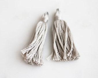 50% Off ENTIRE STORE // T9-022-LGY] Gray / 40mm / Cotton Tassel / 2 piece(s)