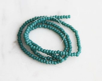 A2-658-6-02] Green Crystal / 2mm / Faceted Round Rondelle Bead  / 1 strand