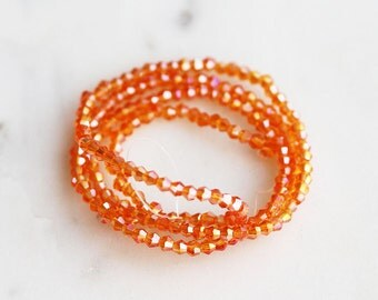 50% Off ENTIRE STORE // A2-618-8-02] Orange Crystal / 2mm / Bicone Bead  / 1 strand