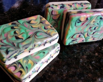 Citrus Craze Home Made Artisan Soap Bar / Cold Process Soap / Silk Soap /  Citrus Soap / Lemon / Orange