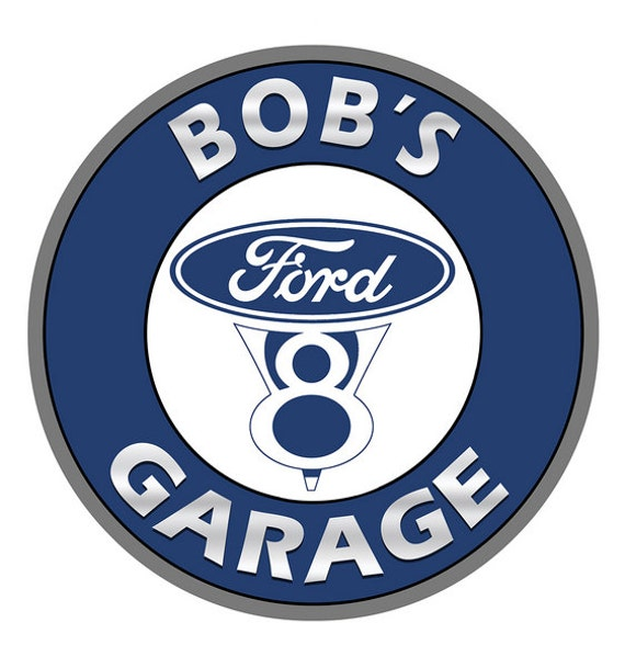 Ford Garage Signs : Personalized ford v garage metal sign custom vintage style