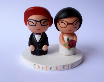 Wedding Cake Topper - Bride and Groom Wedding Cake Toppers