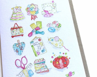 Greetings Card, Sewing and Crafts