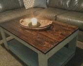 Beautiful Custom Beautiful Rustic Wood Pallet Coffee Table **Spring Sale**